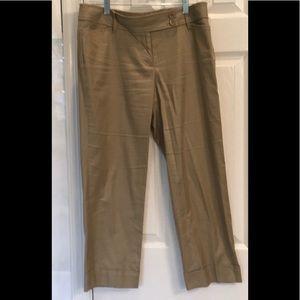 LOFT, Marissa Khaki Cuffed Pants/Two side buttons